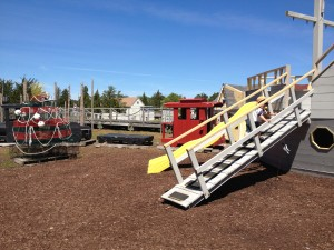 Tuckerton Seaport offers fun and educational programs, exhibits and activities. They also have this really cool playground!