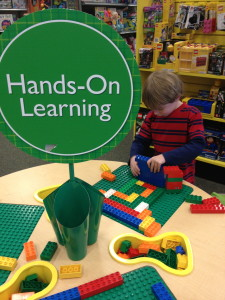 This Lego station at Barnes and Noble is the perfect place to hang out on a rainy day in NJ!
