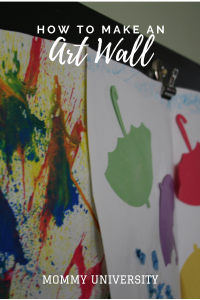 How to Make an Art Wall