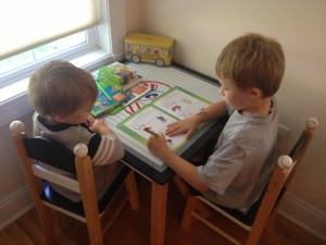 Creating a learning/homework space for your kids helps make homework time easier!