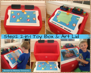 Step2 2-in-1 Toy Box & Art Table