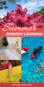 summer sensory learning