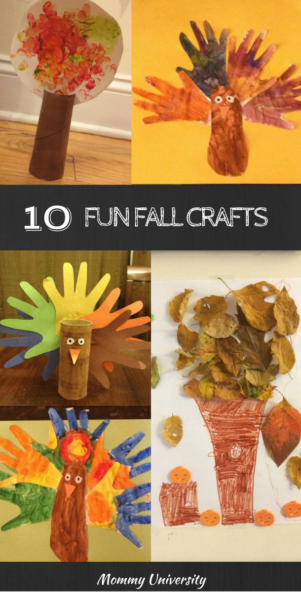 Kids And Art 10 Fun Fall Crafts Mommy University