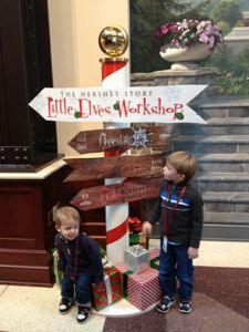 One of our favorite traditions is visiting Hershey, PA in the winter and making chocolate ornaments at the Hershey Museum!