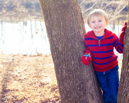 Letting your child choose a picture location can increase his excitement and participation!