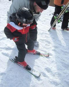 Kids learn a sense of balance and body awareness when skiing!