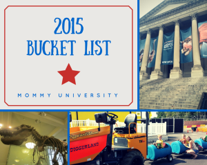 2015 Bucket List