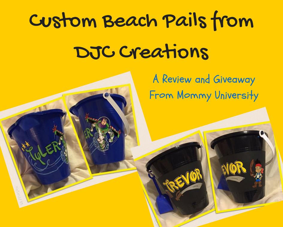 Custom Beach Pails from DJC Creations