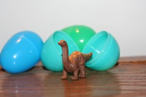 Dinosaurs are perfect for hiding inside Easter eggs!