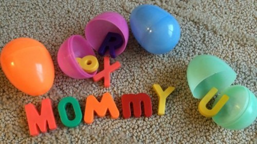 Magnetic Letters in Easter Eggs