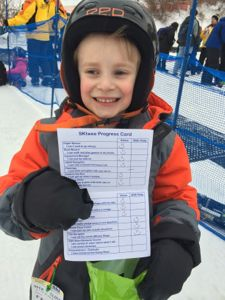 Tyler was so proud of all he accomplished in the SKIwee program at Shawnee Mountain!