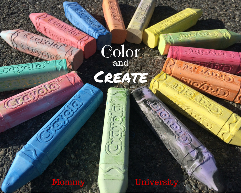 color and create with crayola sidewalk chalk mommy university