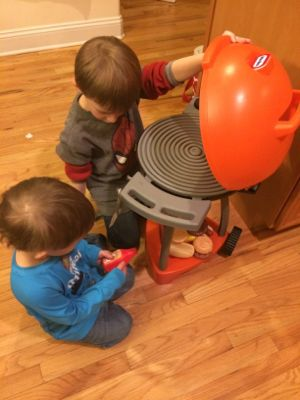My boys loved working together to create the perfect meals!