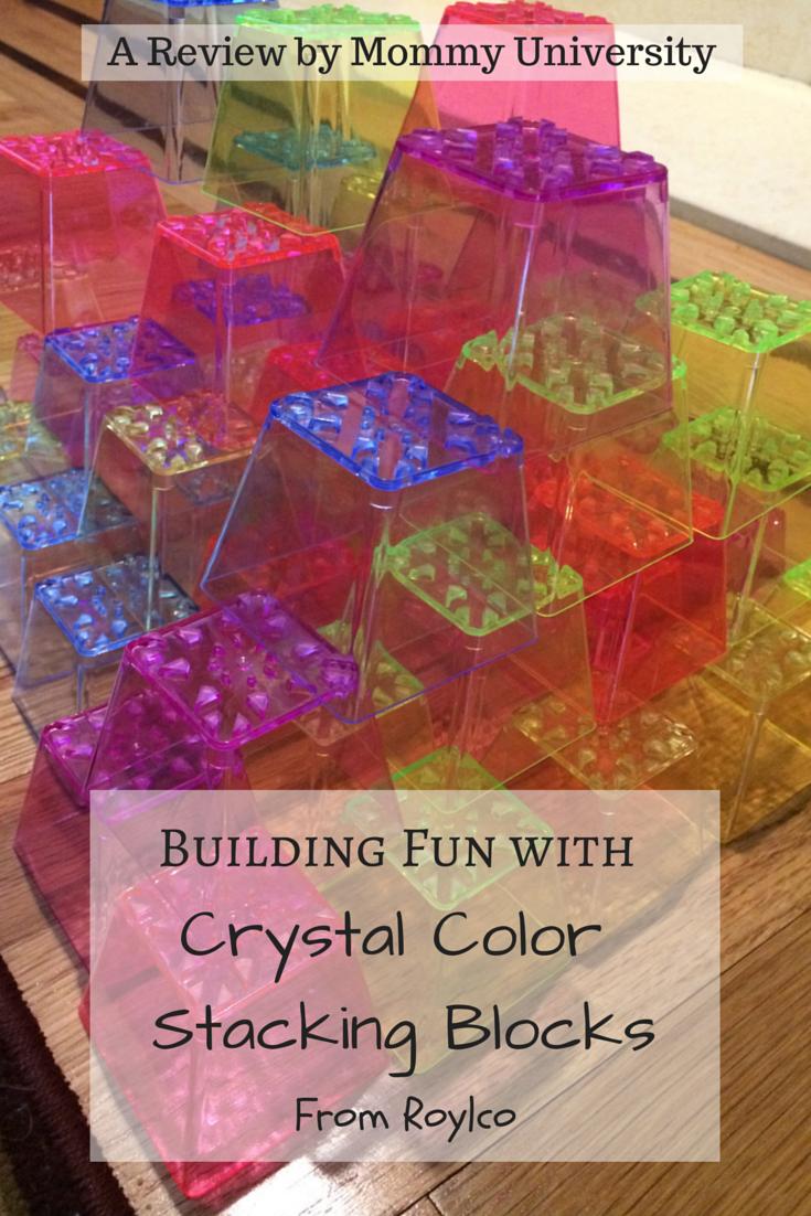 Roylco Crystal Coloring Stacking Blocks