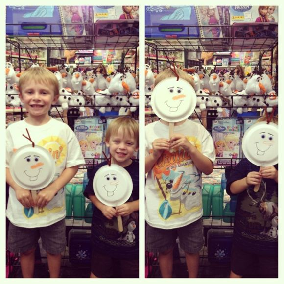 Olaf Puppet Craft