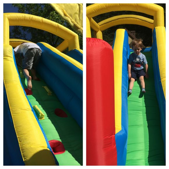 Each time your child makes his way up the climber and flies down the slide, he is building self-confidence!