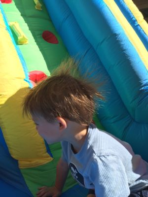 When your child's hair stands up, you can talk to the about the scientific concept of static electricity!