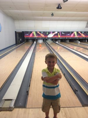 Bowling builds motor skills, but it also helps to build confidence!