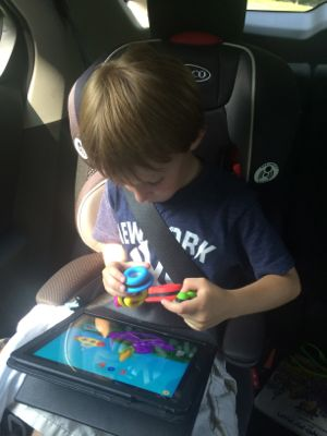 My boys LOVE playing with TIggly in the car during road trips!