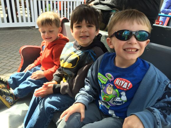 The kids love riding the train before visiting the zoo!
