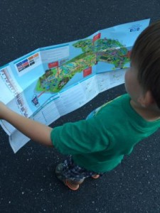 By letting the kids use the park map, they can enhance language, visual and spatial skills!