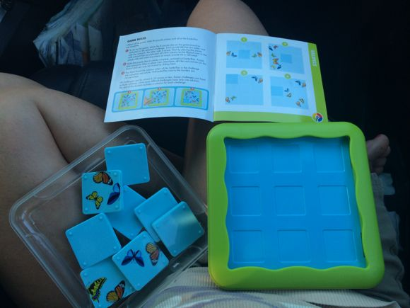 This game is compact making it easy to set up right on your lap in the car!