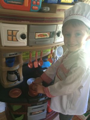 The Chef costume is perfect for playing in your pretend kitchen!