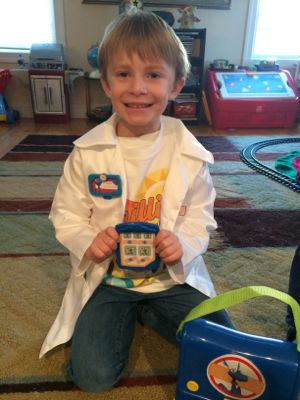 Pretending to be a doctor can help lessen the anxiety for some kids who have upcoming doctor's appointments.