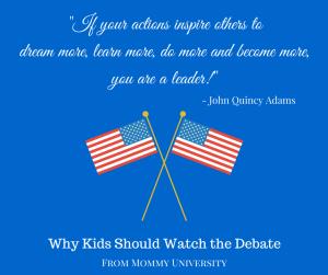 Why Kids Should Watch the Debate