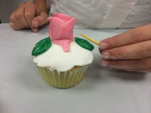 Eye-hand coordination was needed to create each small detail on the cupcakes!