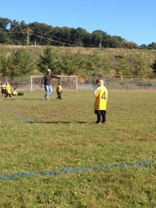 Tyler would stand in the middle of the field and cry during his first soccer season!