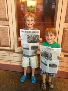 These newspapers are wonderful ways to remember our experience at The Hershey Story Museum!