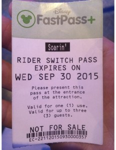 Disney Rider Switch Pass