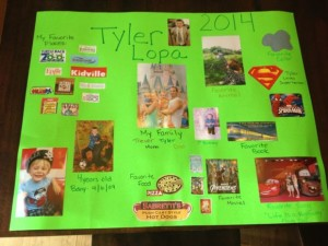 Preschool helps kids learn about themselves especially when doing projects like this one!