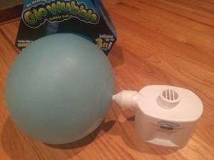 Blowing up Glo Wubble