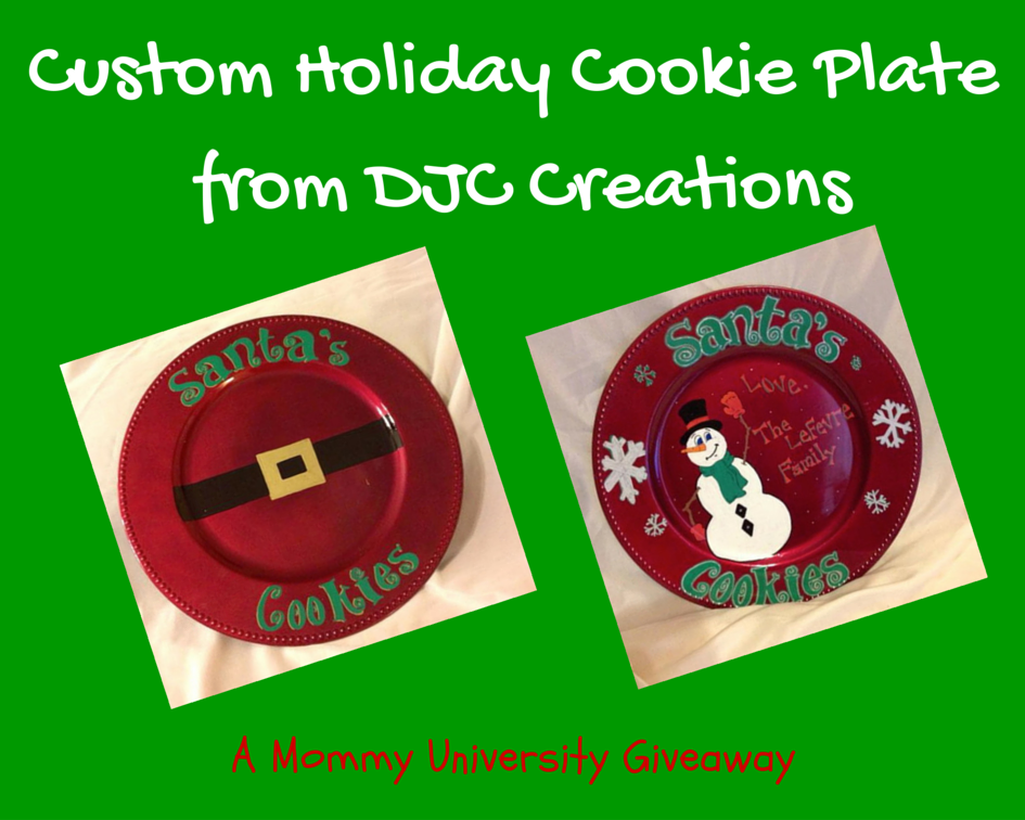 Custom Holiday Cookie Plate from DJC Creations
