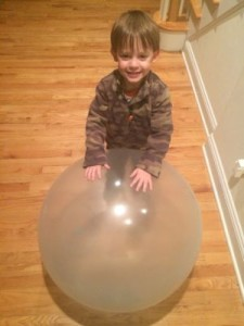 Playing with Glo Wubble