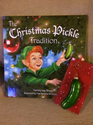 the christmas pickle book and ornament - Christmas Pickle Story