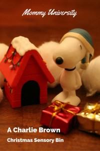 Charlie Brown Christmas Sensory Bin