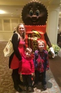 Picture with Reese's Character