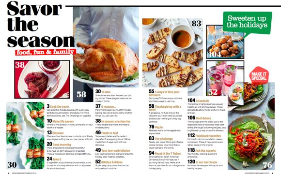 Get Inspired with Savory Magazine | Mommy UniversityFood Magazine Table Of Contents