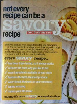 Savory Recipe Guarentee