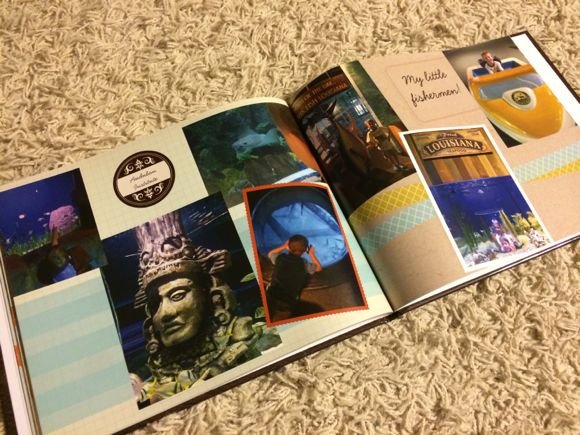 I love how the designer organized the pictures from our trip to the aquarium!