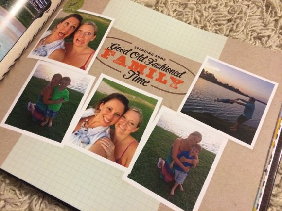 My fun and quirky family was captured perfectly with the layout on this page!