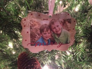 Here is the ornament I made this year using Shutterfly!