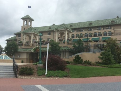 The Hotel Hershey is spectacular from the moment you arrive. (This is a picture taken last summer and is one of my favorites!)