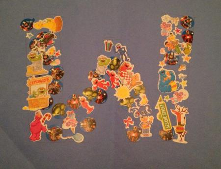 Make a Letter with Stickers