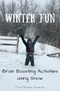 Brain Boosting Activities Using Snow