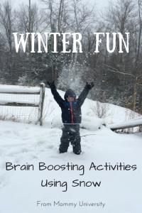 Brain Boosting Activities Using Snow