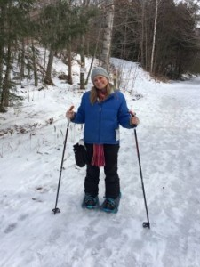Mommy University on Snowshoes at Smuggs